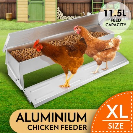 Metal Chicken Duck Poultry Feeder Large Pet Supplies