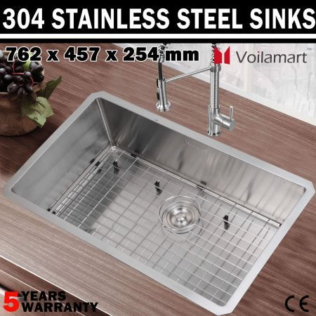 handmade 304 stainless steel kitchen laundry sink single deep bowl crazy sales. Black Bedroom Furniture Sets. Home Design Ideas