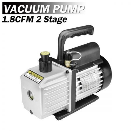1.8CFM 1/4HP 2 Stages Vacuum Pump Refrigeration Rotary Gauges Air Conditioning