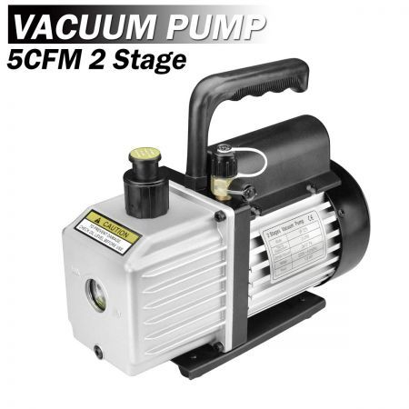 1/2HP 5CFM 2 Stages Refrigeration Vacuum Pump Gauges Air Condition