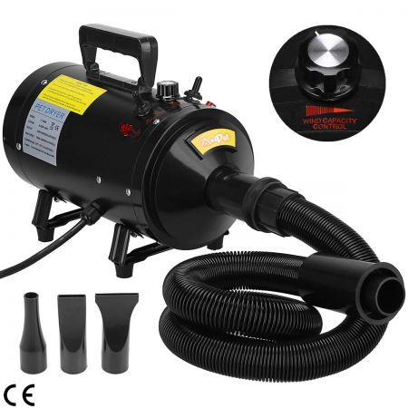 2800W Pet Dog Cat Grooming Hair Dryer Stepless Speed Heater Blower