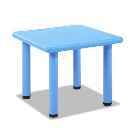 Kids Play Table with Adjustable Feet - Blue