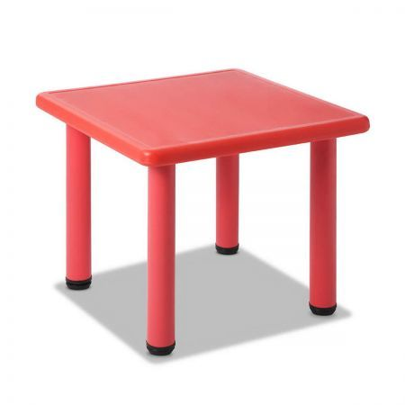 Kids Play Table with Adjustable Feet - Red