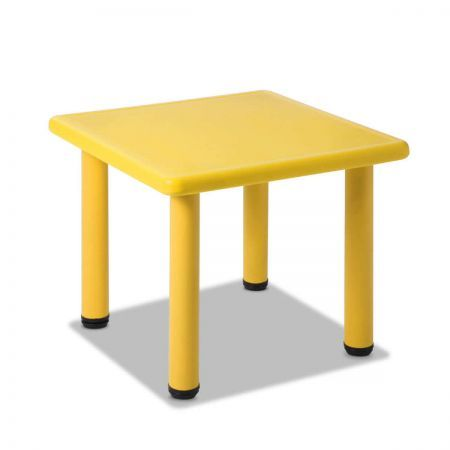 Kids Play Table with Adjustable Feet - Yellow