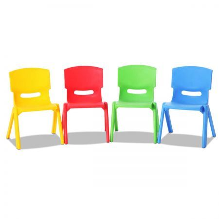 Set of 4 Kids Play Chairs with Protected Rubber Corners