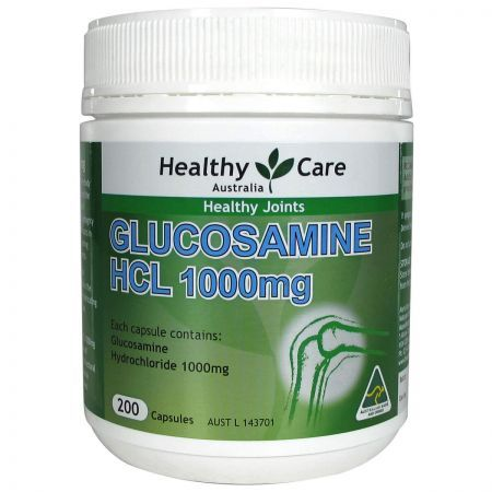 Healthy Care Glucosamine HCL 1000mg 200 Capsules