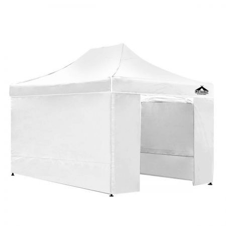 Instahut 3x4.5 Pop Up Gazebo Hut with Sandbags - White