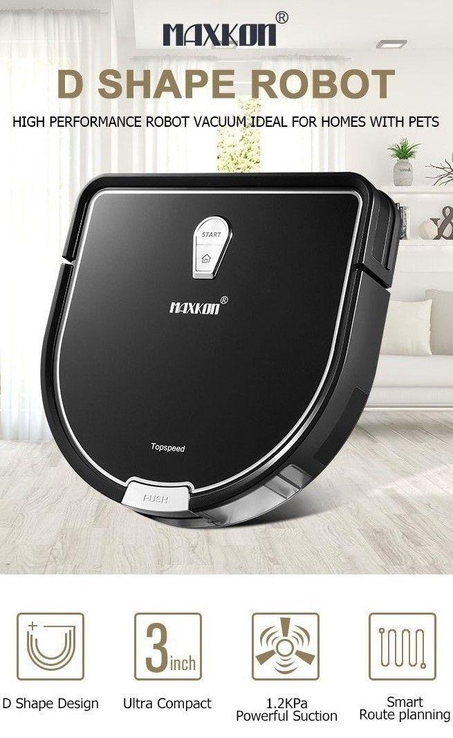 Maxkon Robot Vacuum Cleaner 1 2kpa Remote Control Self