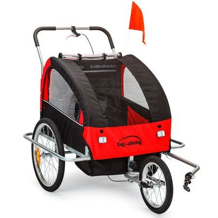 Kids Bike Trailer & Jogger - Red