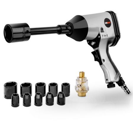 "Unimac 17pc 1/2"" Impact Wrench Kit - LX-001 Rattle Gun Set Socket Pneumatic Metric"