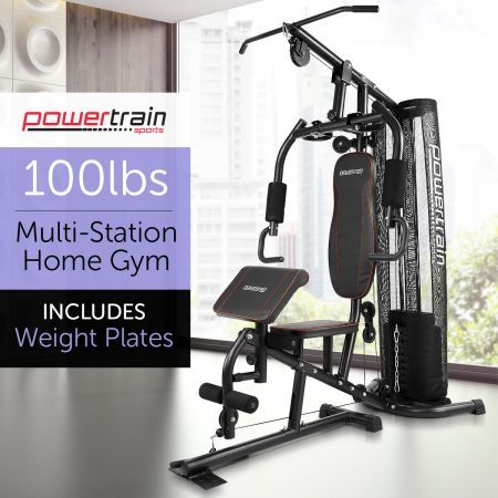 Powertrain multi station home gym kg with preacher curls