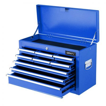 9-Drawer Tool Chest Box with Ball Bearing Slide - Blue