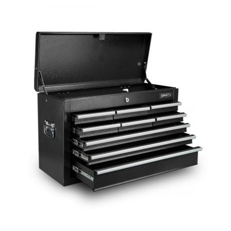 9-Drawer Tool Chest Box with Ball Bearing Slide - Black