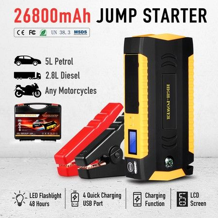 600A Peak 26800mAh Portable Jump Starter Battery Charger for Car Truck Phone