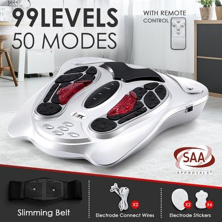 Electromagnetic Wave Foot Massager Pulse Infrared Heat Massage Circulation Booster