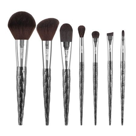 7 Pcs Makeup Brushes Kit Cosmetic Eye Shadow Lip Liner Blending Beauty Set - Black