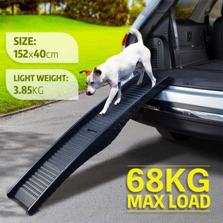 Petscene Dog Car Ramp Folding Portable Pet Doggy Steps Ladder for Truck Van SUVs