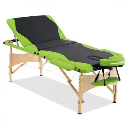 Portable Wooden Massage Table with 9 Different Adjustable Table Heights