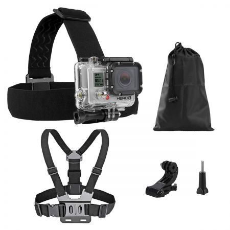 Head Helmet Strap Chest Harness Mount For GoPro 2 3 3+ 4 Go Pro