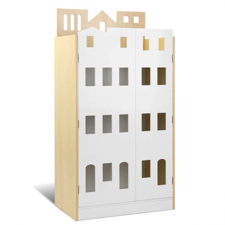 Kids Castle Design Bookshelf - White