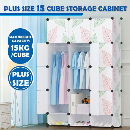 DIY 15 Cube Wardrobe Storage Cabinet Cupboard Organiser Shoe Rack Toy  Bookshelf