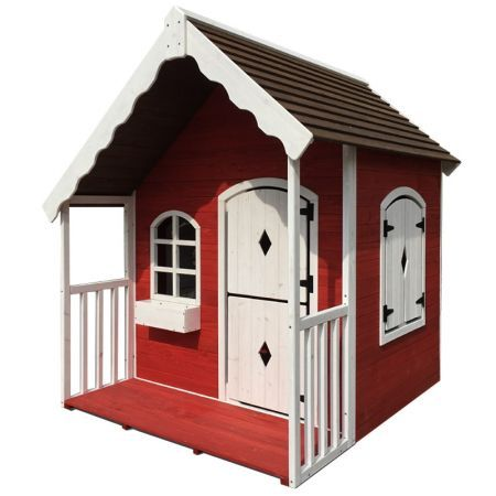 Wooden Cottage Kids Playset Outdoor Cubby House
