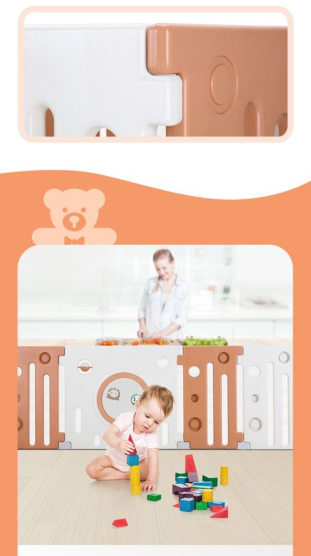 18 Panel Baby Playpen Kids Safety Gates Interactive