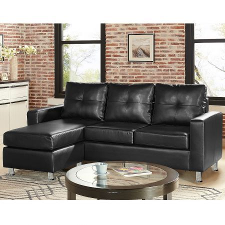 Corner Sofa Bed Couch With Chaise Black Crazy Sales