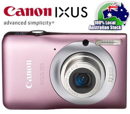 Canon IXUS 105 IS Digital Camera 12.1 MP Megapixel 4x Optical Zoom - Pink