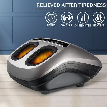Shiatsu Foot Massager Kneading Rolling Massage Heat Air Pressure Heel Ankle Therapy