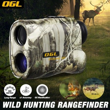 500m Hunting Laser Range Finder 6x Golf Distance Speed Meter Measurer Wild Hunter
