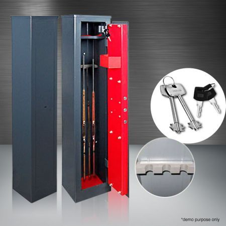 3 Gun Storage Locker Safe with Internal Security Box