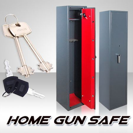 5 Gun Firearm Safe with Internal Security Box + Access Keys + L-Lever