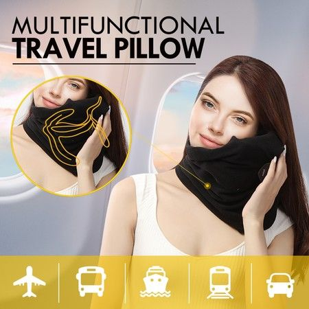 New Portable Neck Pillow Soft Comfortable Neck Support Sitting Nap Washable