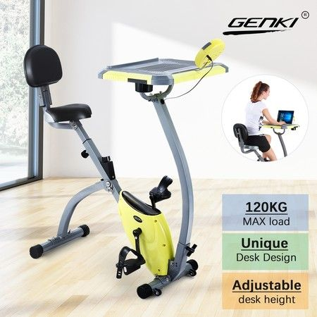 Genki Upright Desk Exercise Bike Folding Magnetic Bicycle Cycling Home Gym Equipment