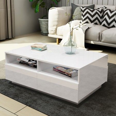 Image result for Modern coffee table with storage