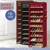 Portable 10 Tier Shoe Rack