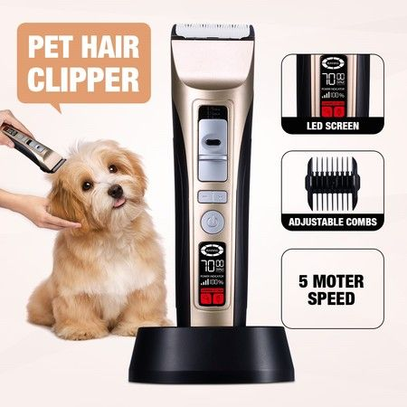 5 Speed Pet Clipper Professional Animal Dog Cat Grooming Hair Trimmer Kit