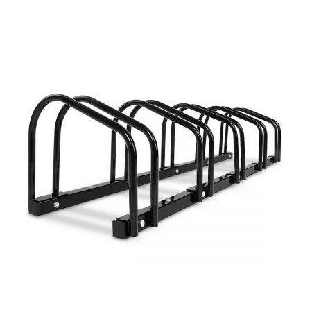 Portable Bike Parking Rack Maximum 5 Bikes - Black