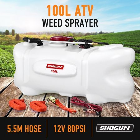 NEW 100L ATV WEED SPRAYER 12V PUMP TANK CHEMICAL GARDEN FARM WATER SPRAYING