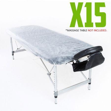 Disposable Massage Table Cover 180cm X 75cm 15pcs Crazy Sales