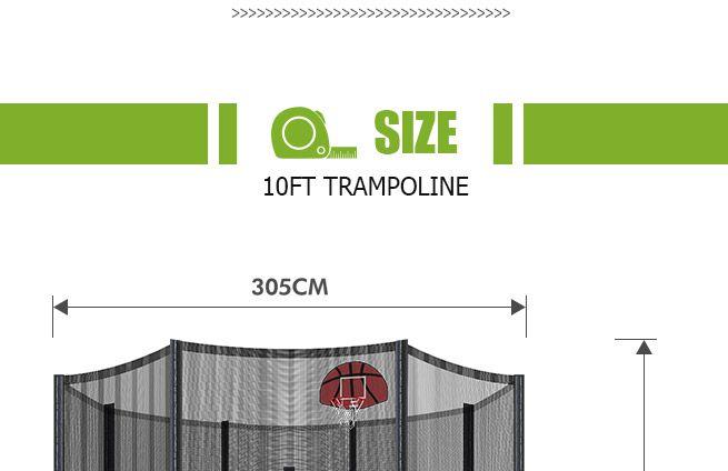 Genki 10ft Round Kids Trampoline Set With Safety Enclosure