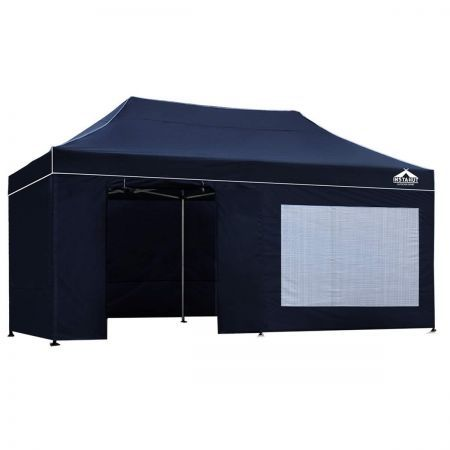 3 x 6M Aluminium Pop Up Gazebo - Navy