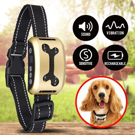 Dog Barking Control Bark Collar Anti Bark Rechargeable Puppy Training Collar
