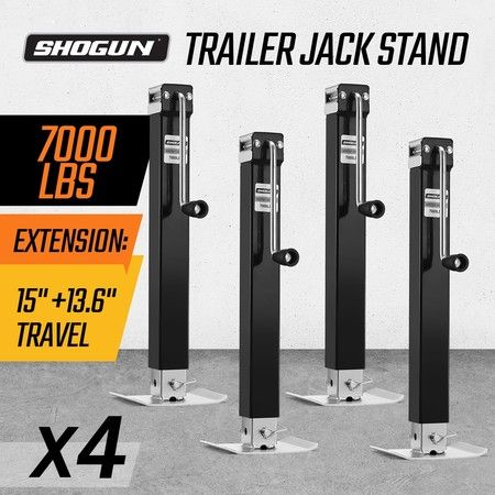 4X Heavy Duty Trailer Jack Stand 3175KG Load Each 135CM Total Height Direct-Weld