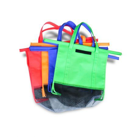 4Pcs Reusable Shopping Trolley Bags Eco Friendly Grocery Cart Carrier