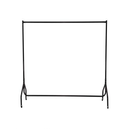 4ft Metal Garment Display Rolling Clothes Rack