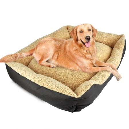 Deluxe Soft Washable Dog Cat Pet Warm Basket Bed XXL - Brown