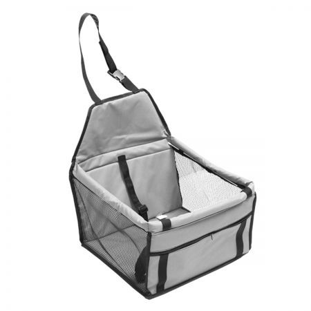 Pet Car Booster Seat Puppy Cat Dog Auto Carrier - Grey