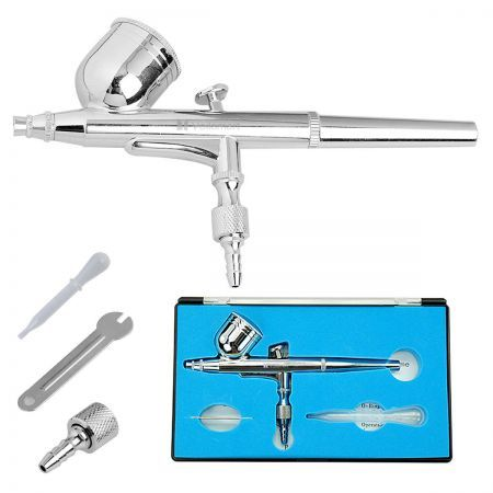Dual Action Airbrush Gravity 0.2mm Air Brush 7cc Ink Cup Spray Gun Paint Set Kit